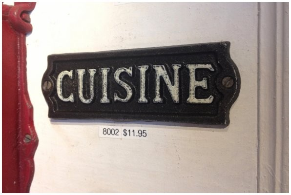Iron forge hand painted sign