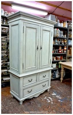 Tall 80''  French pine cabinet